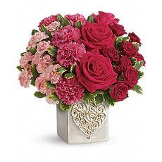 Heart Mixed Flower Bouquet, image