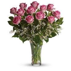 12 Long Stemmed Pink Roses